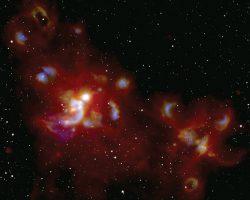 巨大な恒星はどのように誕生しているのか。NASAの空中天文台が大質量星の形成領域を撮影