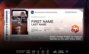 あなたの名前が火星へ!NASAが火星探査車「マーズ2020」に乗せる名前を世界中から募集