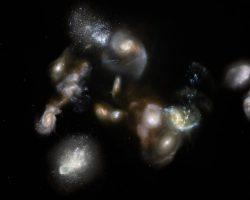 合体していく124億年前の原始銀河団