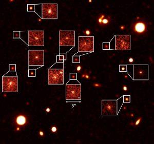 すばる望遠鏡、110億年前の原始銀河団の星形成活動を観測