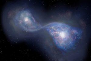 131億年前の初期宇宙における銀河の合体をアルマ望遠鏡が観測