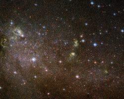 小さく不規則な銀河に備わった巨星のゆりかご