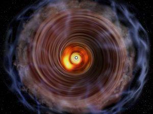 わずか3000歳!原子星を取り巻くガス円盤の姿が明らかに