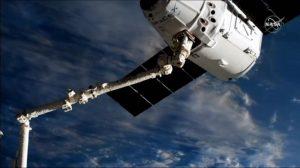 3回目となる再使用ドラゴン補給船が宇宙ステーションに到着