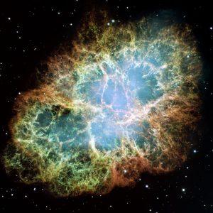 かに星雲から放たれる高エネルギーのガンマ線。広い領域から届いていたことを初確認