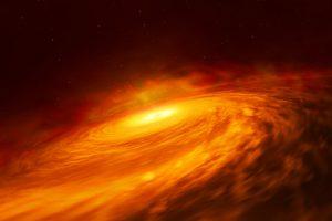 予想に反した存在。弱い活動銀河のブラックホール周辺に超小型降着円盤を確認