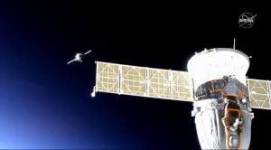 人型ロボット搭載したソユーズ、宇宙ステーションにドッキング