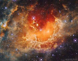 """創造された""""宇宙おたまじゃくし""""の中で育つ星々"""