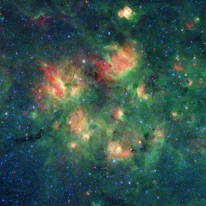 数千の星々を抱えたバブル構造が密集する領域
