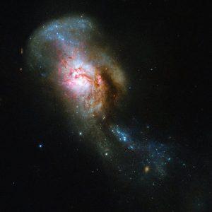衝突合体銀河の中心にあるメデューサの目