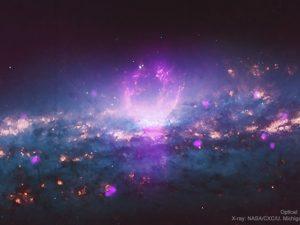 X線で輝いて見える銀河の「スーパー・バブル」