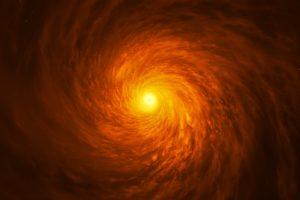 渦巻銀河「NGC 3147」のブラックホールと降着円盤