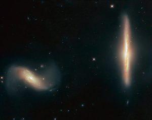 始まった銀河の密接な関係