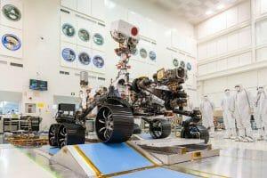 来年打ち上げ予定の火星探査車「マーズ2020」がテスト走行を実施
