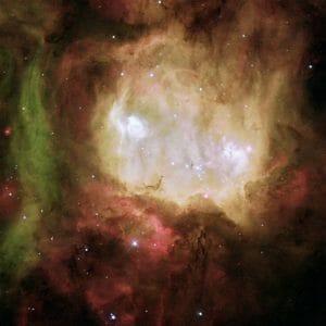 ゴーストの目を持つ輝線星雲「NGC 2080」