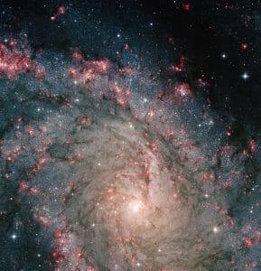北天に輝く星々の花火、1500万光年先の渦巻銀河