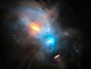 合体銀河にひそむ超大質量ブラックホールの周辺をアルマ望遠鏡が精密観測