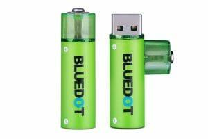 BLUEDOT、USB充電式の乾電池型バッテリー3種類を発売