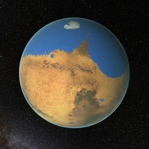 海があった頃の火星は寒冷ではなく、温暖・半乾燥な気候だった