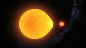 「しずく型」に歪んでいる変光星が見つかる