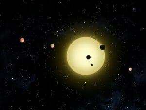「3:2の軌道共鳴」状態にある5つの系外惑星を発見