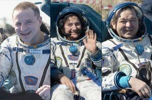 米露3人の宇宙飛行士、ISSから地上へソユーズで帰還