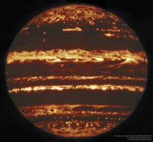 木星大気の内側を「ラッキー・イメージング」を用いた赤外線画像で探る