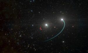 肉眼でも見られる連星にブラックホールを発見。およそ1000光年先