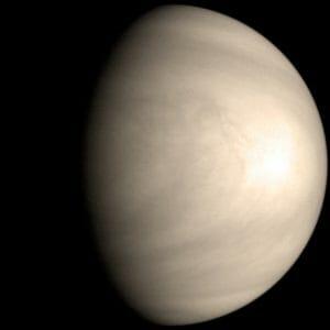 動画で解説! 金星が地球に一番近づくとき、いつも同じ場所を向けている