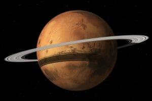 火星の過去と未来の環。衛星は崩壊と再生を繰り返している?