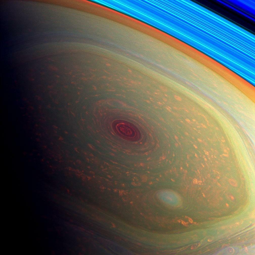土星の北極