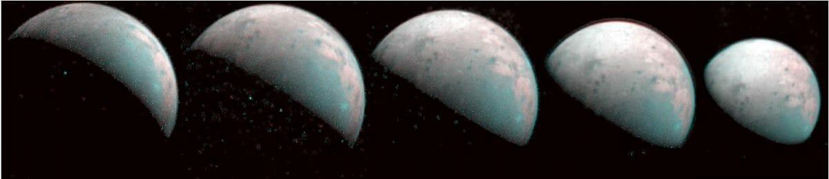 ガニメデ北極域の赤外線画像
