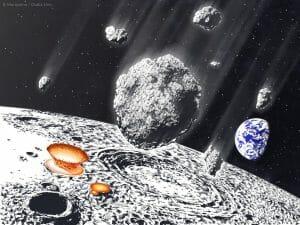 月面に刻まれていた8億年前の「小惑星シャワー」の痕跡、地球環境にも影響か