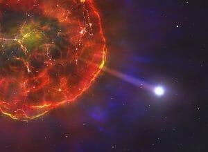 高速で天の川銀河を移動する白色矮星、崩壊した連星から飛び出した?