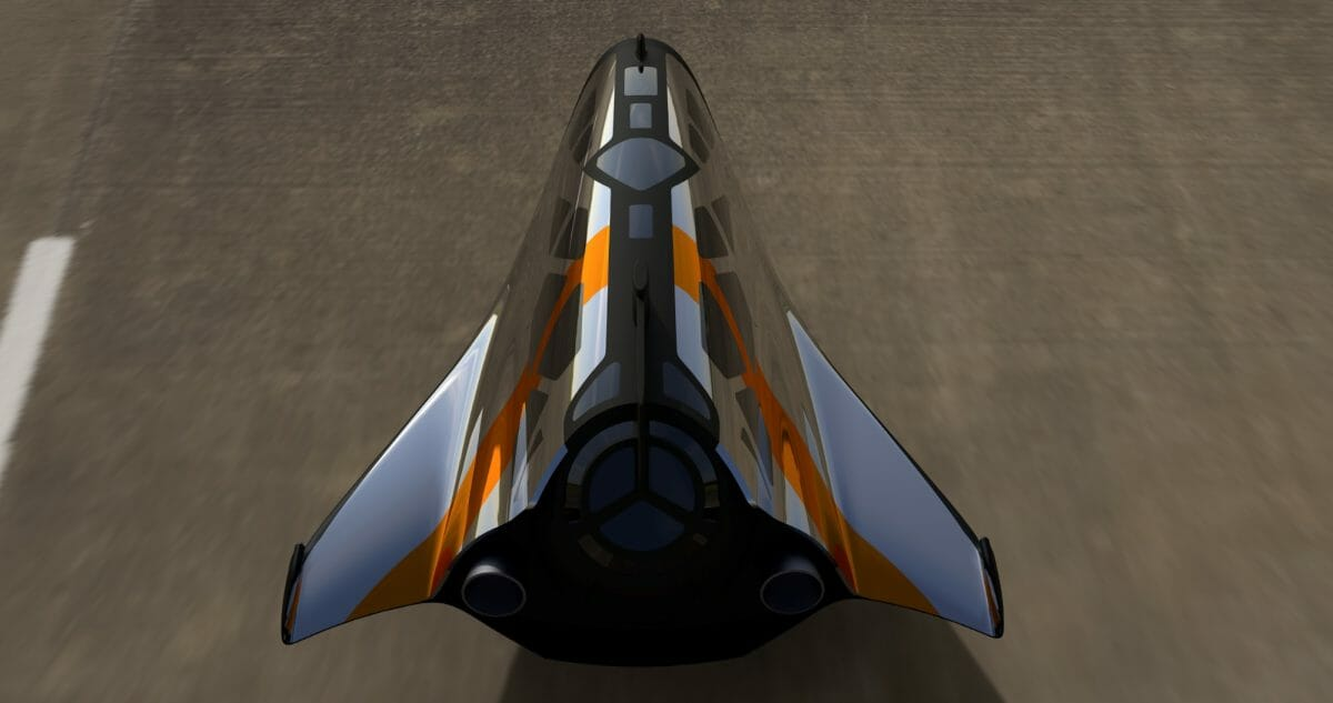 サブオービタル宇宙船「Space Wonderlust」子機のコンセプトデザイン3DCG