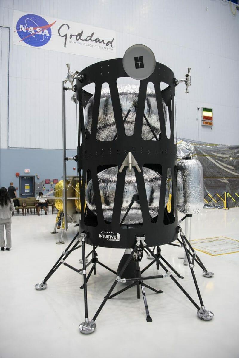 インテュイティブ・マシンズの月着陸船(Credit:NASA/Aubrey Gemignani)