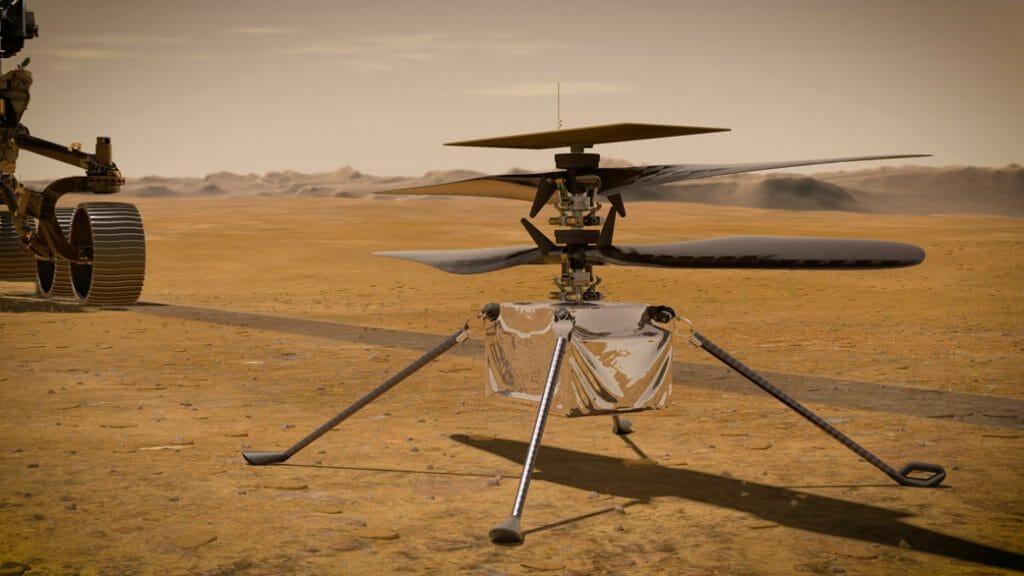 NASAの火星ヘリコプター、インジェニュイティの画像。(Credit: NASA/JPL-Caltech)