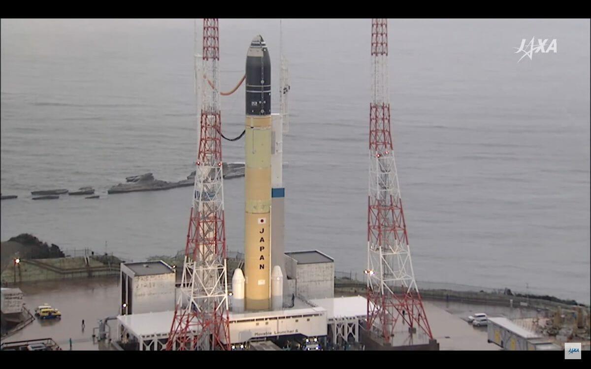 射点に到着したH3ロケット(Credit: JAXA)