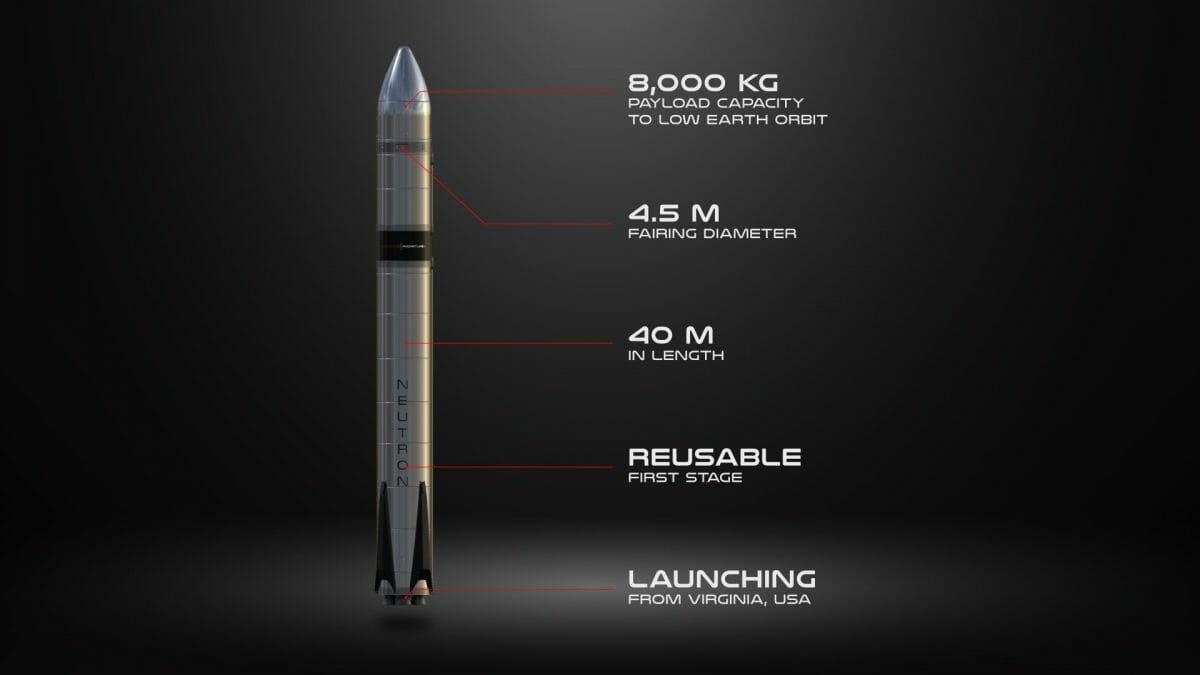 先日発表された新型ロケット「Neutron」の全容(Credit: Rocket Lab)
