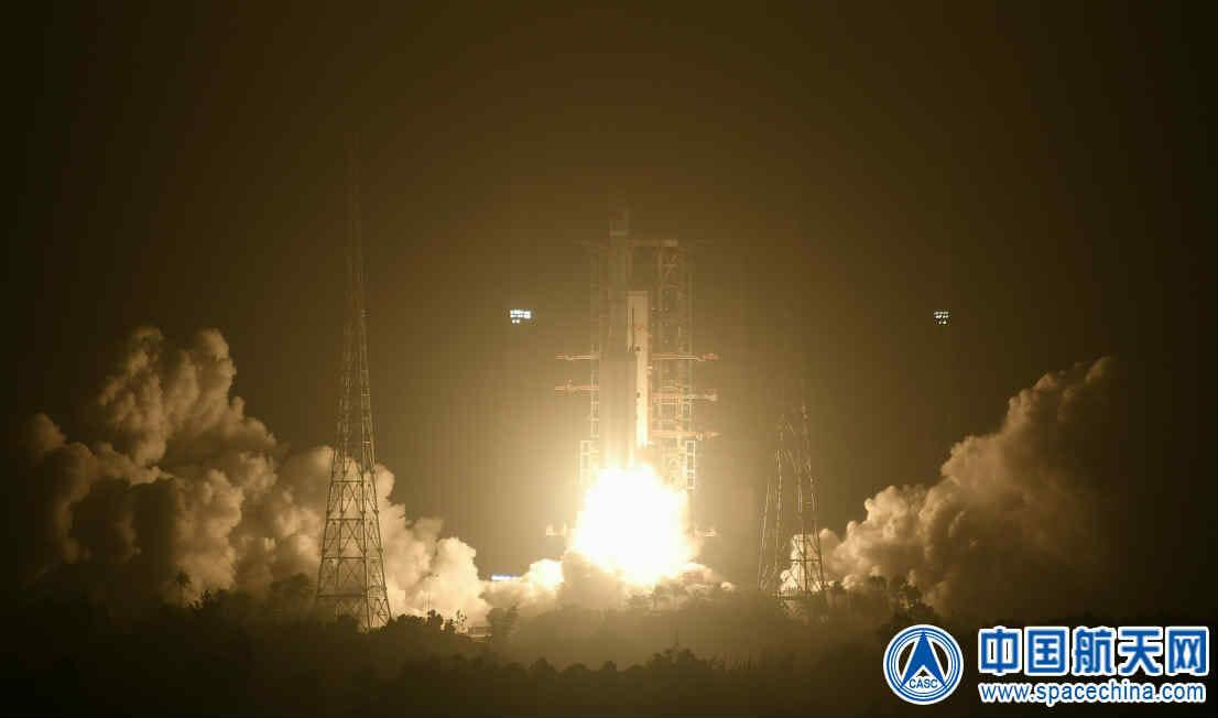文昌衛星発射センターから打ち上げられる長征7号Aロケット(Credit:CASC)