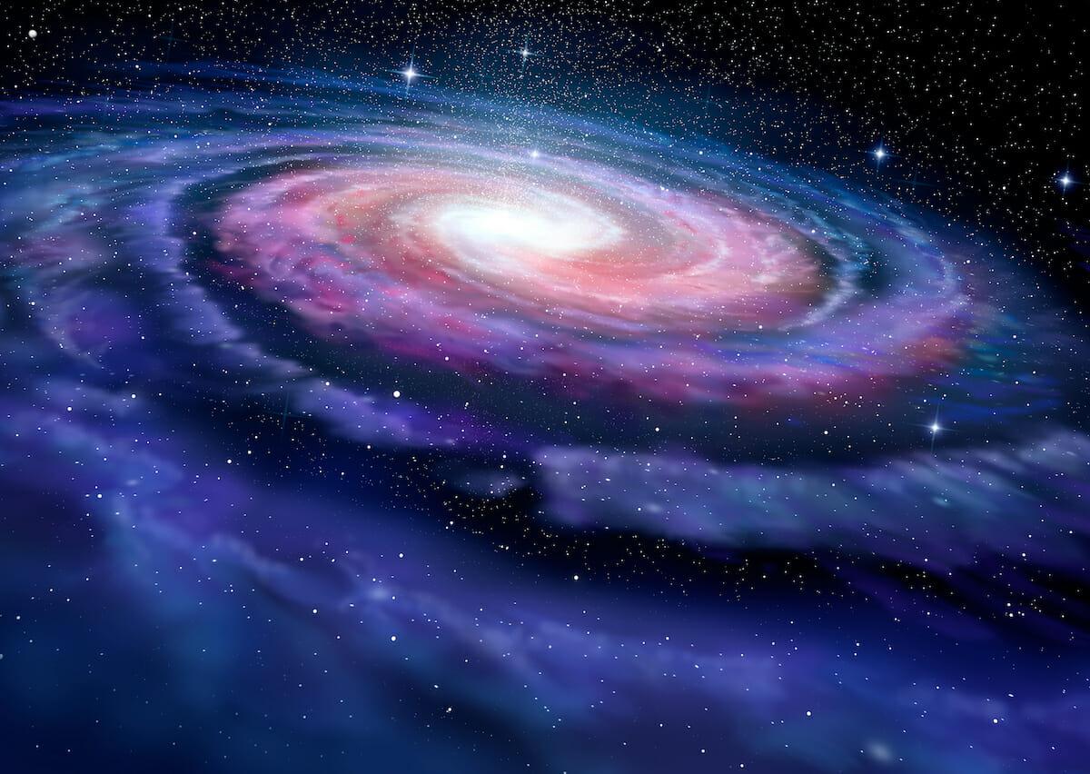 天の川銀河の想像図(Credit: Shutterstock)