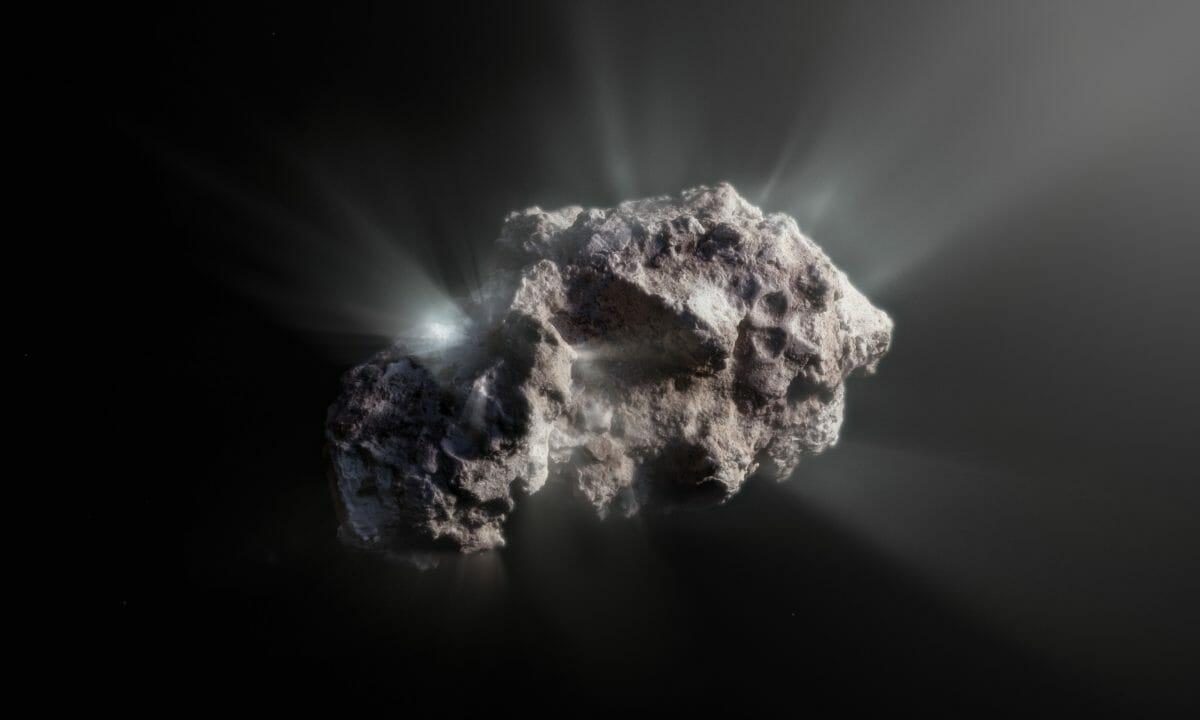 ボリソフ彗星を描いた想像図(Credit: ESO/M. Kormesser)
