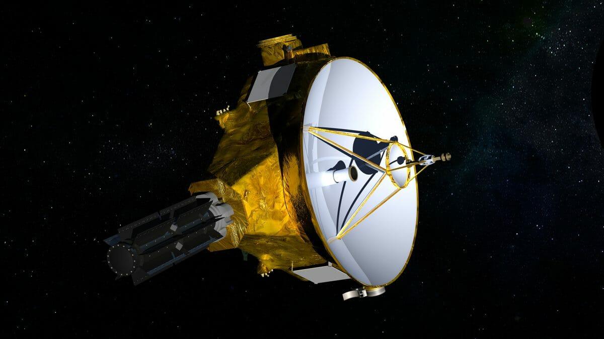 NASAの探査機「ニュー・ホライズンズ」を描いた想像図(Credit: NASA/JHUAPL/SwRI)
