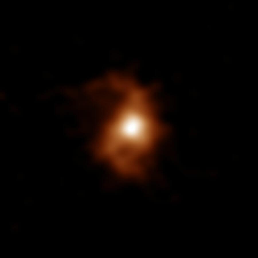 観測史上最古、124億年前の 渦巻構造を持つ銀河「BRI 1335-0417」
