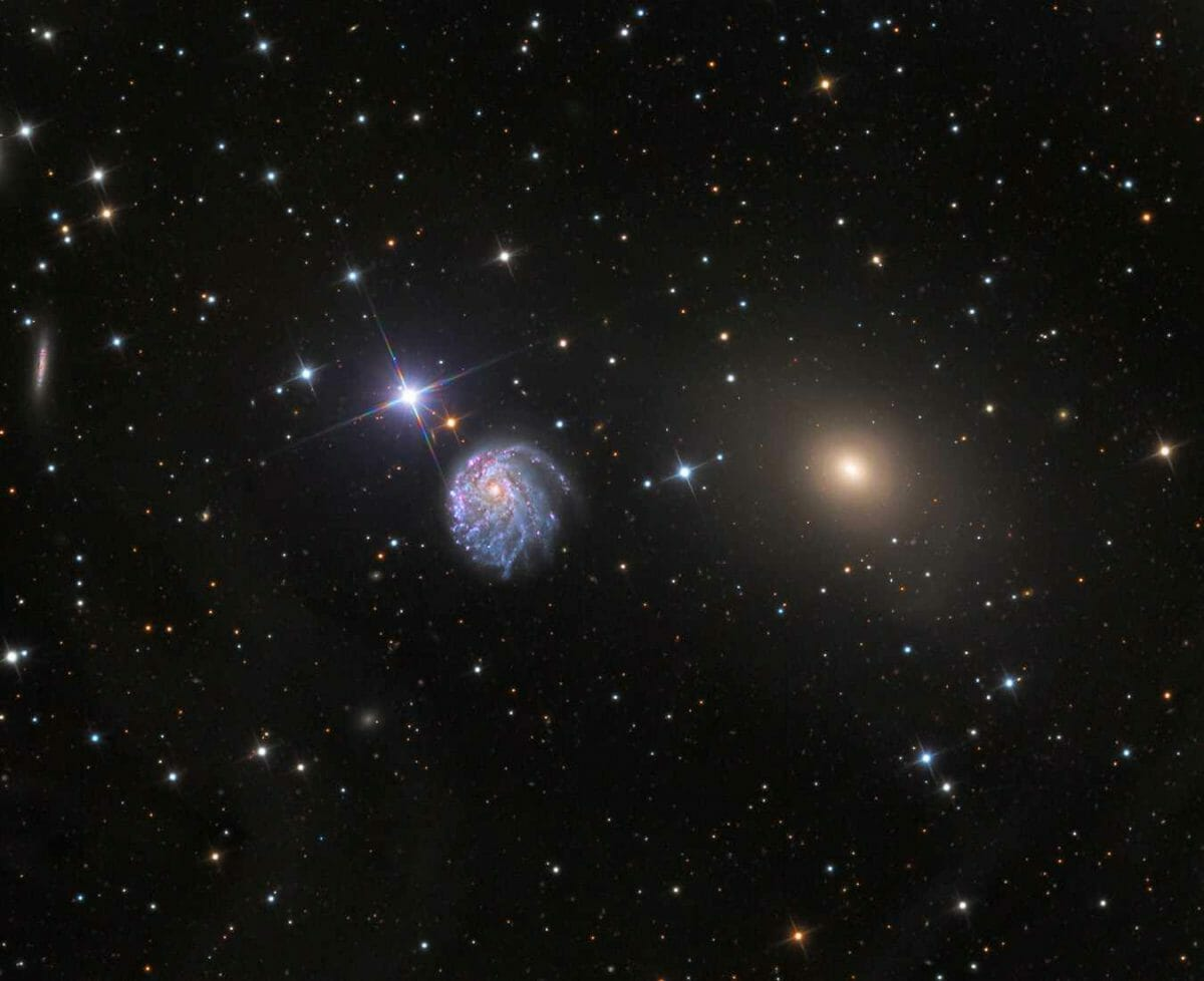 レモン山天文台で撮影されたNGC 2276(左)とNGC 2300(右)(Credit: Adam Block/Mount Lemmon SkyCenter/University of Arizona)