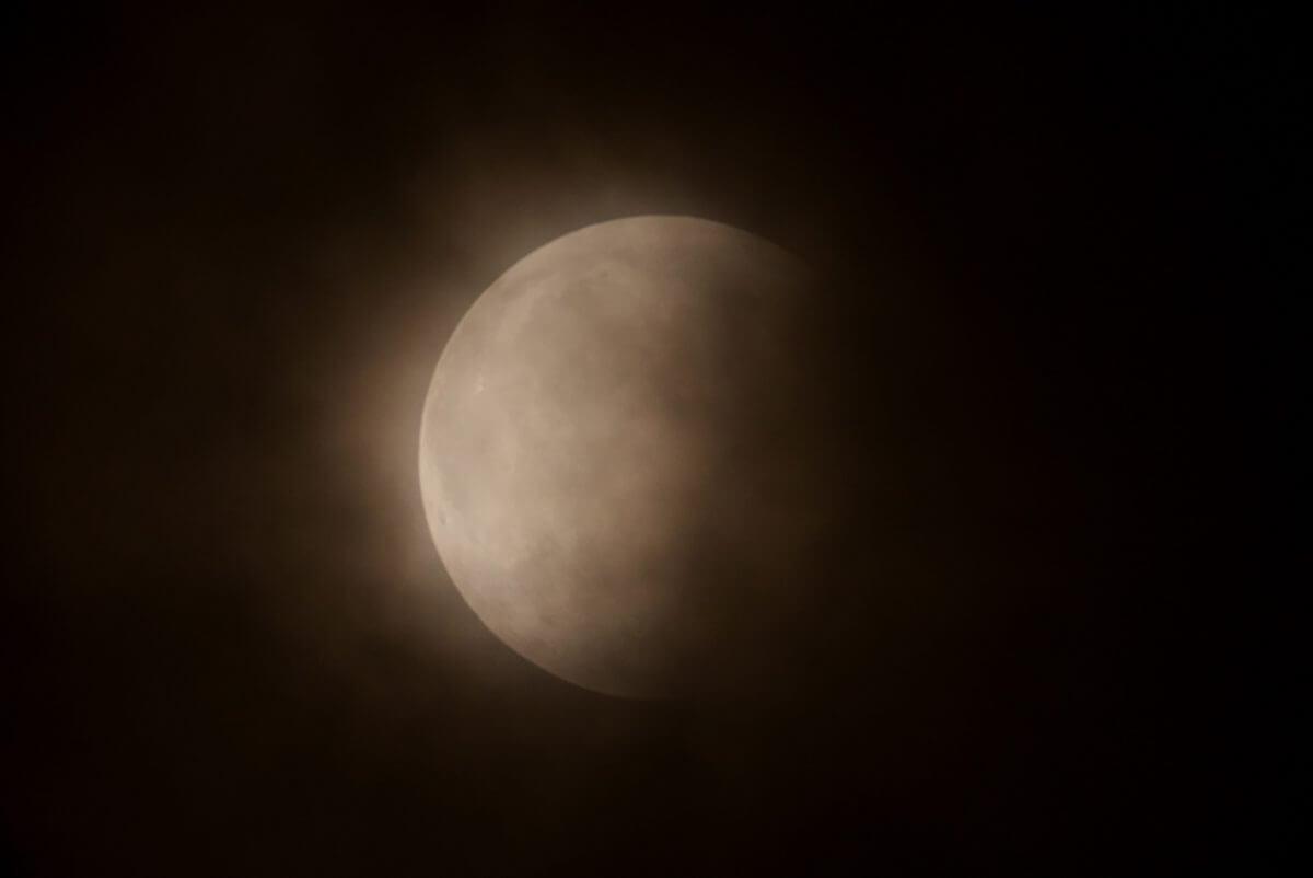 Partial lunar eclipse taken at National Astronomical Observatory of Japan Mitaka Campus (Credit: National Astronomical Observatory of Japan / Mikiya Sato)