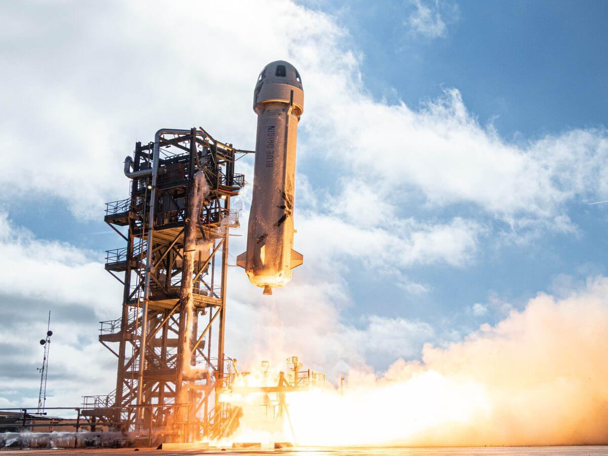 ブルーオリジンの宇宙船「ニューシェパード」(Credit: Blue Origin)