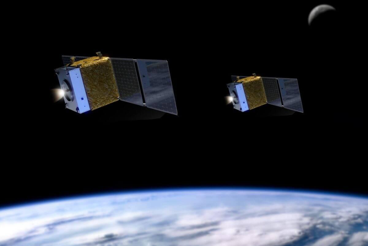 Benchmark社が開発した「Halcyon」スラスターを搭載した人工衛星の想像図(Credit: Benchmark)