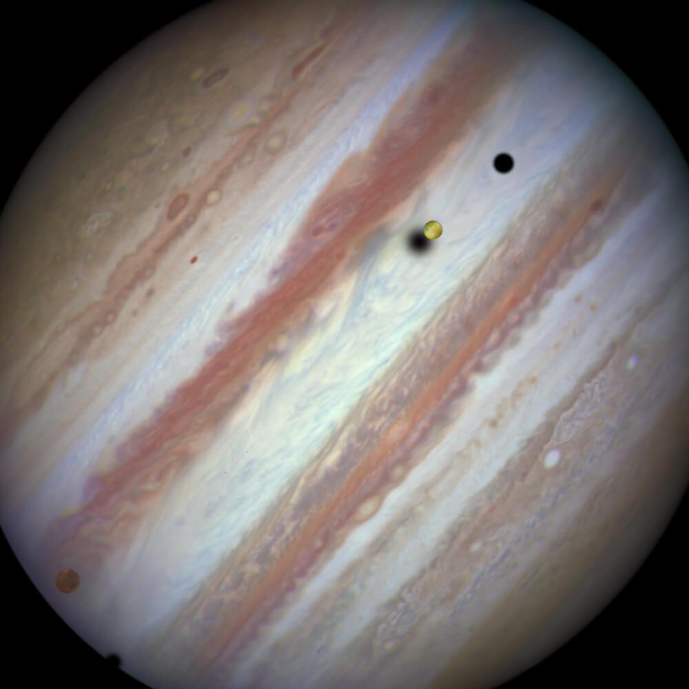 ハッブル宇宙望遠鏡が日本時間2015年1月24日15時28分に撮影した木星(注釈付きバージョンはこちら)(Credit: NASA, ESA, and the Hubble Heritage Team (STScI/AURA))