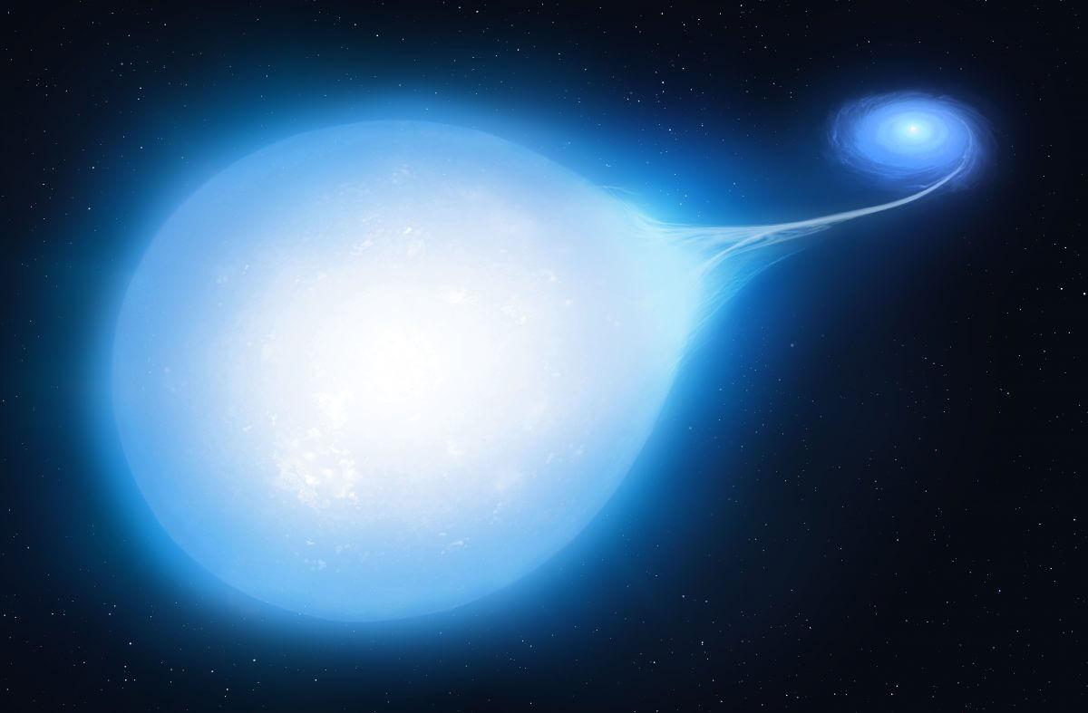 連星「HD 265435」の約3000万年後の姿を描いた想像図(Credit: University of Warwick/Mark Garlick)